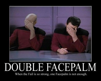 double facepalm