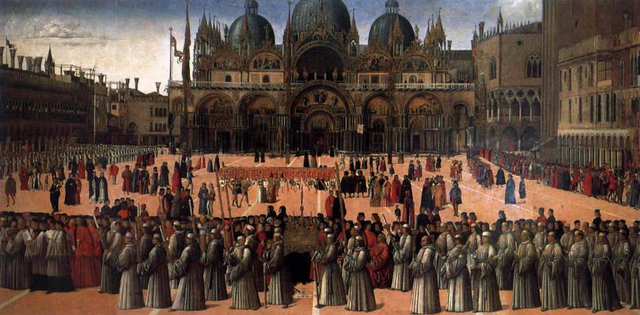Gentile Bellini, Procession in St. Mark's Square