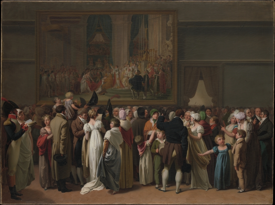 """The Public Viewing David's """"Coronation"""" at the Louvre by Louis Léopold Boilly"""